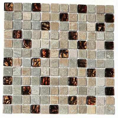 Paragon 12 x 12 Glass Mosaic Tile in Butterscoth