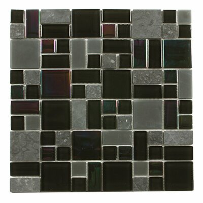 Paragon 12 x 12 Glass Mosaic Tile in Basalt Multi