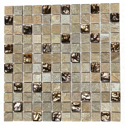 Paragon 12 x 12 Glass Mosaic Tile in Golden Honey