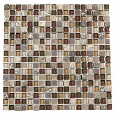 Paragon 12 x 12 Glass Mosaic Tile in Sable Mixed