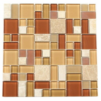 Paragon 12 x 12 Glass Mosaic Tile in Nutmeg Multi