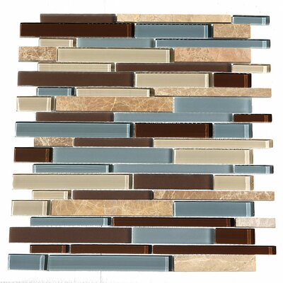 Paragon 15.25 x 15.65 Glass Mosaic Stick Tile in Ocean