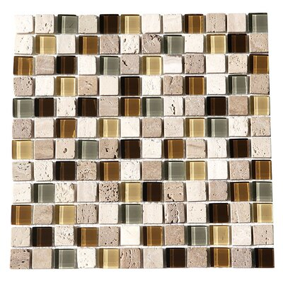 Paragon 12 x 12 Glass Mosaic Tile in Fawn