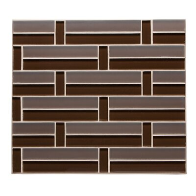 Studio 11.75 x 11.38  Glass Mosaic Tile in Cocoa
