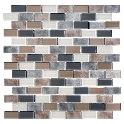 Tides 0.75 x 1.63 Glass Mosaic Tile in Cashmere