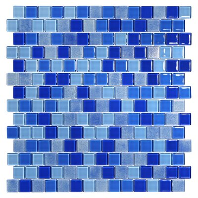 Tides 0.75 x 0.75 Glass Mosaic Tile in Cornflower