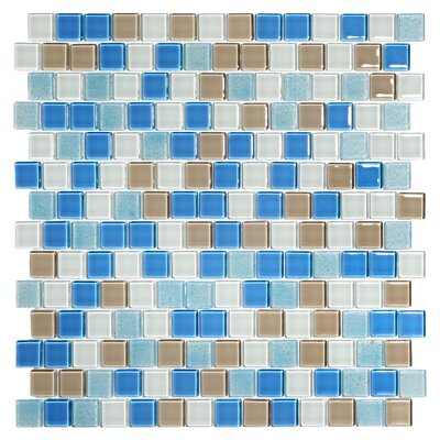 Tides 0.75 x 0.75 Glass Mosaic Tile in Hamptons