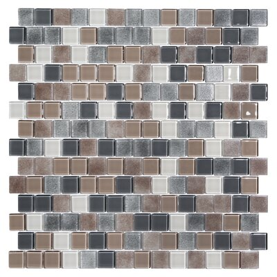 Tides 0.75 x 0.75 Glass Mosaic Tile in Cashmere
