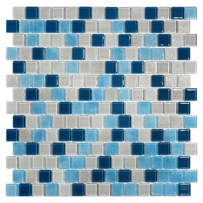 Tides 0.75 x 0.75 Glass Mosaic Tile in Big Sky