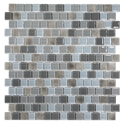 Tides 0.75 x 0.75 Glass Mosaic Tile in Oyster