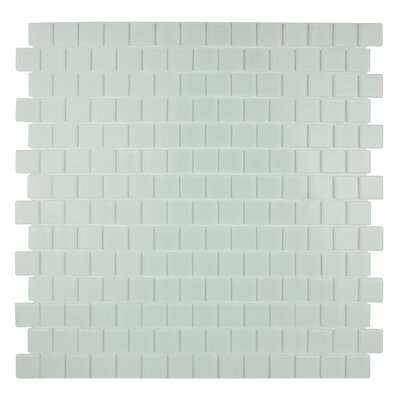 Quartz 0.75 x 0.75 Glass Mosaic Tile in White