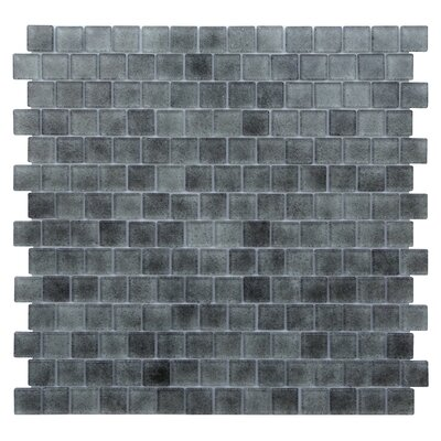 Quartz 0.75 x 0.75 Glass Mosaic Tile in Light/Dark Gray