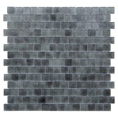 Quartz 0.75 x 0.75 Glass Mosaic Tile in Light/Dark Gray