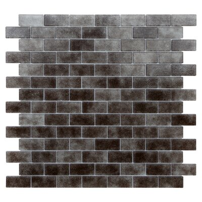 Quartz 0.75 x 1.63 Glass Mosaic Tile in Gray/Taupe