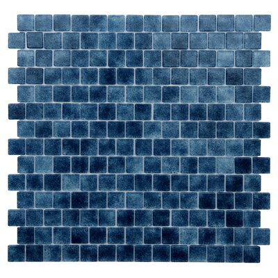 Quartz .075 x 0.75 Glass Mosaic Tile in Dark Blue