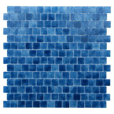 Quartz 0.75 x 0.75 Glass Mosaic Tile in Blue/Lapis Blue