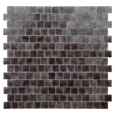 Quartz 0.75 x 0.75 Glass Mosaic Tile in Gray/Taupe