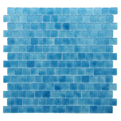 Quartz 0.75 x 0.75 Glass Mosaic Tile in Blue