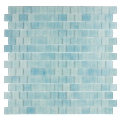 Quartz 0.75 x 0.75 Glass Mosaic Tile in Light Blue