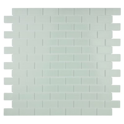 Quartz 0.75 x 1.63 Glass Mosaic Tile in White