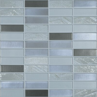 Urban Jumeriah 1 x 3 Glass Mosaic Tile in Matte Metalic
