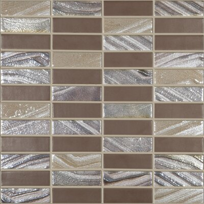Urban Tribeca 1 x 3 Glass Mosaic Tile in Matte Metalic
