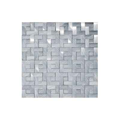 Metalico Metal Look 12 x 12 Mosaic Tile in Silver