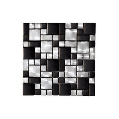 Metalico Metal Look 12 x 12 Mosaic Tile in Black and White