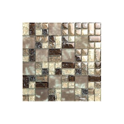 Marbella 12 x 12 Glass Mosaic Tile in Natural