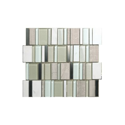 Rio 12 x 12 Glass Mosaic Tile in Gray