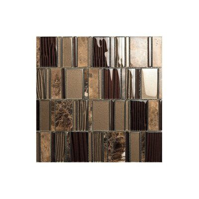 Rio 12 x 12 Glass Mosaic Tile in Brown