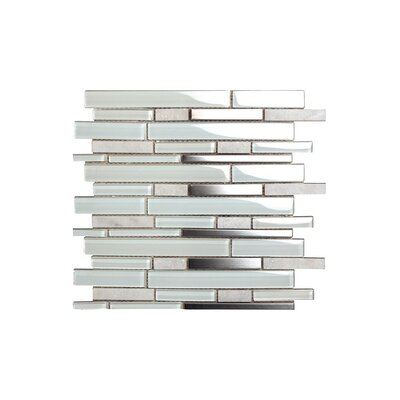 Bianco 12 x 12 Glass Mosaic Tile