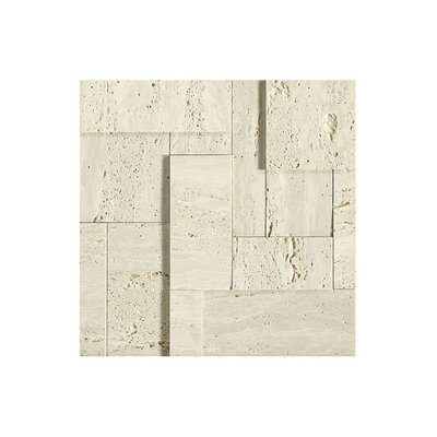 12 x 12 Travertine Mosaic Tile in Matte matte, beige