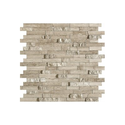 French 12 x 12 Marble Mosaic Tile in Stone