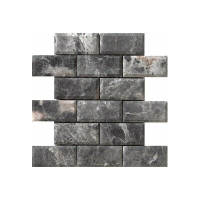 Diamond 12 x 12 Engineered Stone Mosaic Tile in Gray
