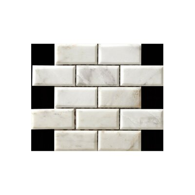 12 x 12  Marble Subway Tile in Matte White