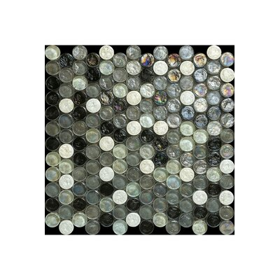Noce 12 x 12 Glass Mosaic Tile in Mixtured