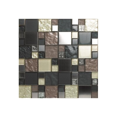 Noce Damasco 12 x 12 Glass Mosaic Tile