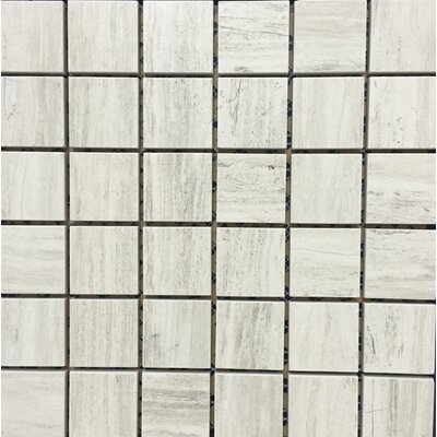 Silverwood 12 x 12 Porcelain Mosaic Tile in White