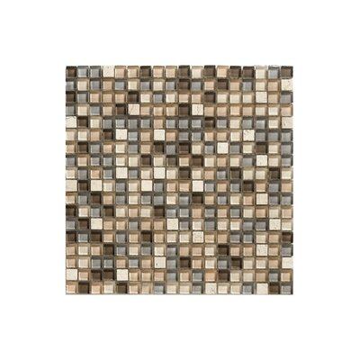 Siberia Glass Mosaic Tile in Beige and Black