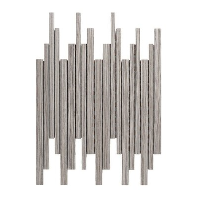 Bambu 12 x 12 Porcelain Mosaic Tile in Gray