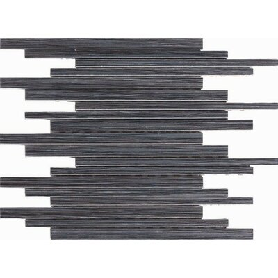 Bambu 12 x 12 Porcelain Mosaic Tile in Black