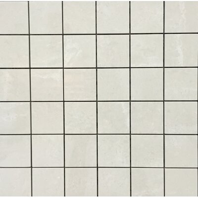Pearl 12 x 12 Porcelain Mosaic Tile in Cream