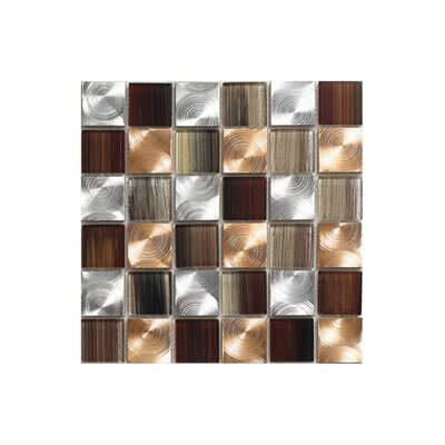 Pearl 12 x 12 Glass Mosaic Tile in Copper
