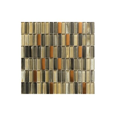 Port Choco 12 x 12 Glass Mosaic Tile Gray/Beige