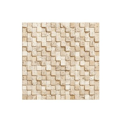 Port 12 x 12 Block Stone Mosaic Tile in Cream