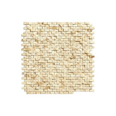 Port 12 x 12 Brick Stone Mosaic Tile in Cream