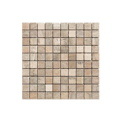 12 x 12 Engineered Stone Mosaic Tile in Brown