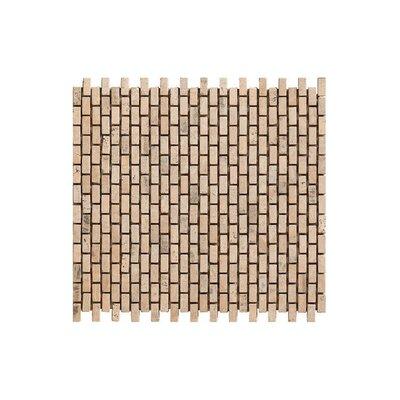 12 x 12 Travertino Engineered Stone Mosaic Tile in Brown