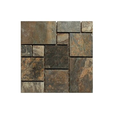 Modular 12 x 12 Engineered Stone Mosaic Tile in Brown